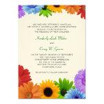 Rainbow Bouquet Wedding Personalized Announcements