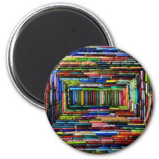 Rainbow Boxes 6 Cm Round Magnet