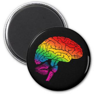 Rainbow Brain 6 Cm Round Magnet