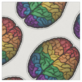 Rainbow Brain Fabric