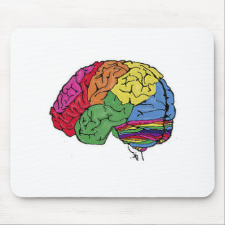Rainbow Brain Mouse Mat
