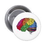 Rainbow Brain Pinback Button