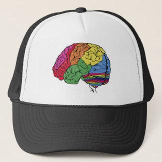 Rainbow Brain Trucker Hat