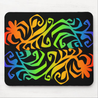 rainbow branches mouse mat