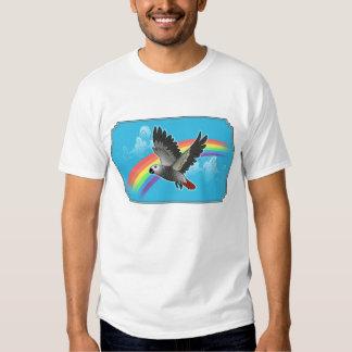 Rainbow bridge african grey parrot tshirts