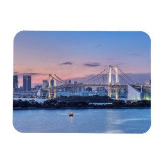 Rainbow Bridge at twilight Rectangular Photo Magnet
