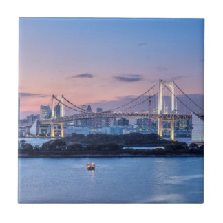 Rainbow Bridge at twilight Tile
