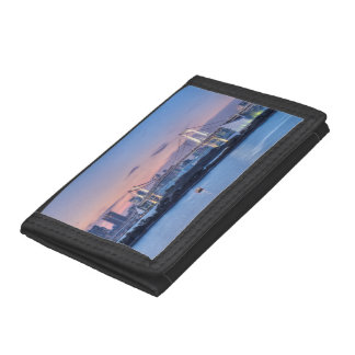 Rainbow Bridge at twilight Trifold Wallets