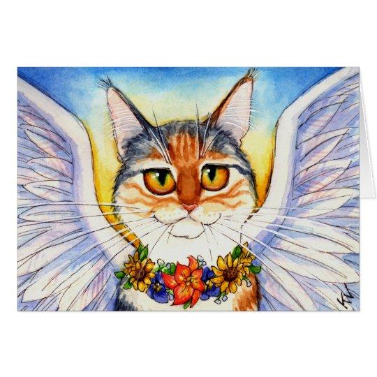 Rainbow bridge cat angel card