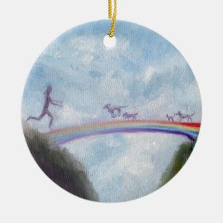 Rainbow Bridge Dog Cat Puppy Kitten Heaven Violano Christmas Ornament