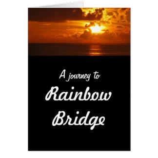 Rainbow Bridge - dog sympathy Greeting Card