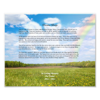 Rainbow Bridge MALE Dog Sympathy Photo Print