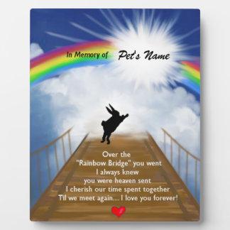 Rainbow Bridge Memorial for Rabbits Plaque