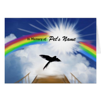 Rainbow Bridge Memorial Poem for Birds Greeting Card