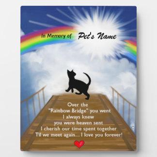 Rainbow Bridge Memorial Poem for Cats Display Plaques