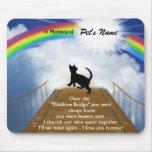 Rainbow Bridge Memorial Poem for Cats Mousemats