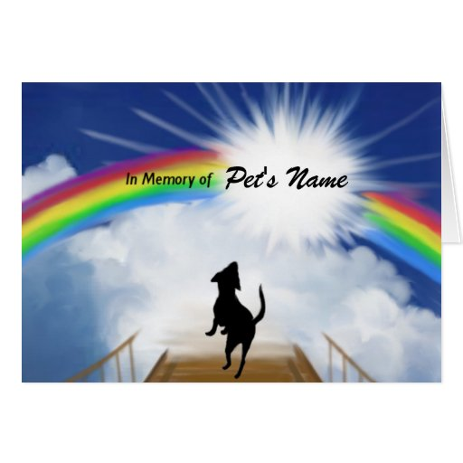 Rainbow Bridge Memorial Poem for Dogs Greeting Cards