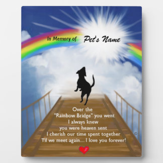 Rainbow Bridge Memorial Poem for Dogs Display Plaques