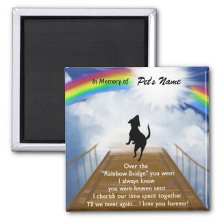 Rainbow Bridge Memorial Poem for Dogs Magnet