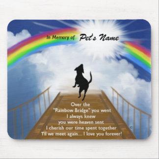 Rainbow Bridge Memorial Poem for Dogs Mouse Pads