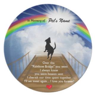 Rainbow Bridge Memorial Poem for Dogs Plate