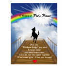 Rainbow Bridge Memorial Poem for Dogs Postcard