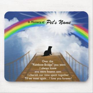 Rainbow Bridge Memorial Poem for Ferrets Mouse Pad