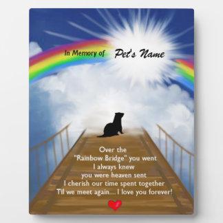 Rainbow Bridge Memorial Poem for Ferrets Plaque