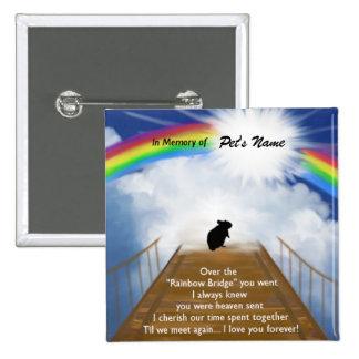 Rainbow Bridge Memorial Poem for Hamsters 15 Cm Square Badge