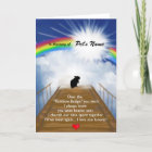 Rainbow Bridge Memorial Poem for Hamsters Card