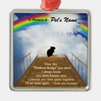 Rainbow Bridge Memorial Poem for Hamsters Christmas Ornament