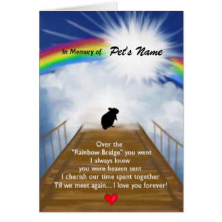 Rainbow Bridge Memorial Poem for Hamsters Note Card