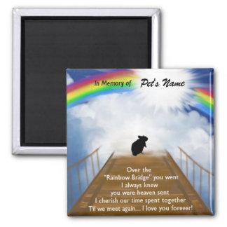 Rainbow Bridge Memorial Poem for Hamsters Square Magnet