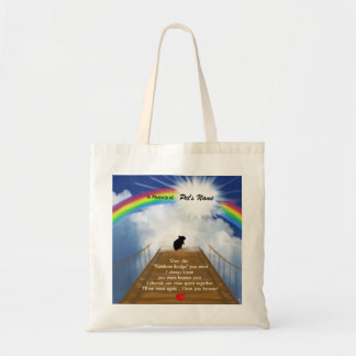 Rainbow Bridge Memorial Poem for Hamsters Tote Bag