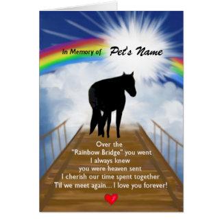 Rainbow Bridge Memorial Poem for Horses Card