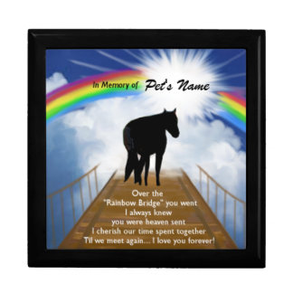 Rainbow Bridge Memorial Poem for Horses Gift Box