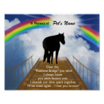 Rainbow Bridge Memorial Poem for Horses Poster