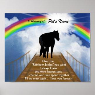 Rainbow Bridge Memorial Poem for Horses Poster