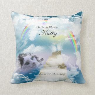 Rainbow Bridge Pet Cat Memorial Cushion