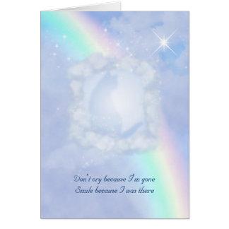 Rainbow Bridge Pet Loss customizable Greeting Card