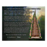 Rainbow Bridge Pet Loss Personalised Wall Print
