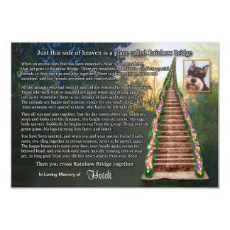 Rainbow Bridge Pet Loss Photo Sympathy Card 9 Cm X 13 Cm Invitation Card