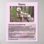 Rainbow Bridge Pet Memorial Pink Poster