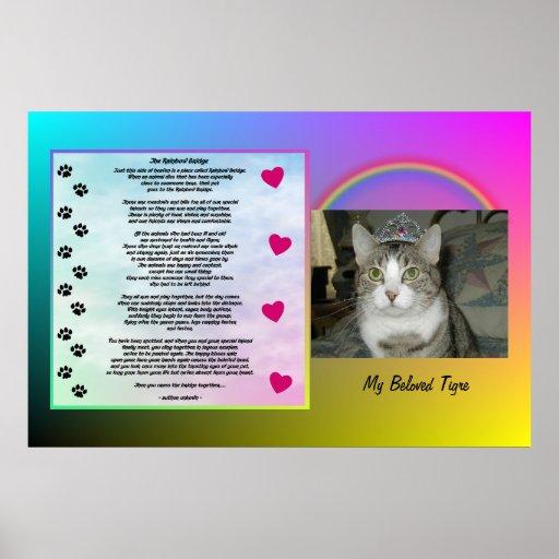Rainbow Bridge Pet Memorial Poster