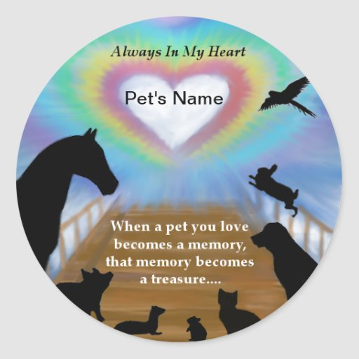 Rainbow Bridge Pets Stickers