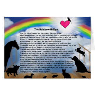 Rainbow Bridge Poem Card