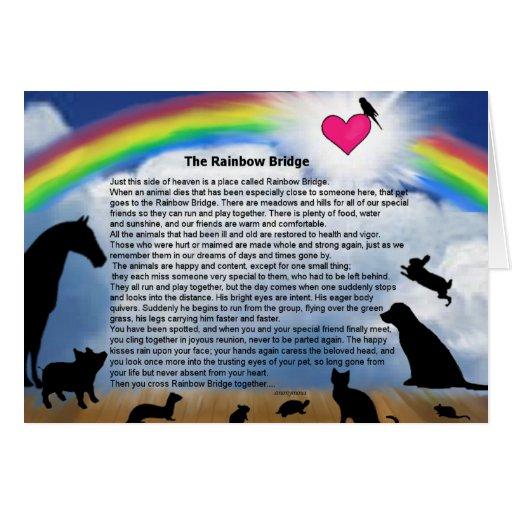 Rainbow Bridge Poem Greeting Cards