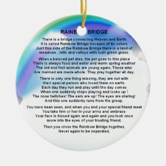 Rainbow Bridge Poem Christmas Ornament