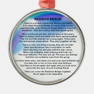 Rainbow Bridge Poem Christmas Ornament