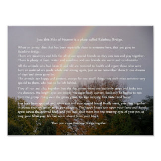 Rainbow Bridge Poem Customizable Gifts Poster